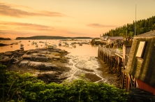 Sunrise on Stonington Harbor, Maine