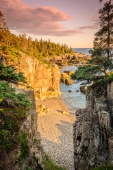 Sunset light from the Crow'sNest, Schoodic Peninsula, Acadia National Park, Maine