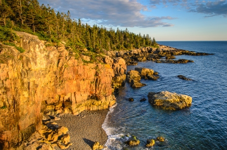 Sunset from Crow's Nest on Schoodic Point, Acadia National Park, Maine