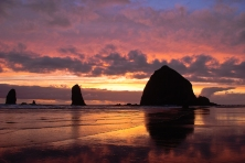 Haystack Rock Sunset II