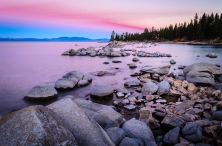 Quiet Pink Morning at Zephyr Cove - Horizontal